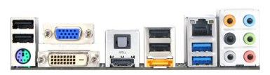 GA-H55N-USB3 backpanel