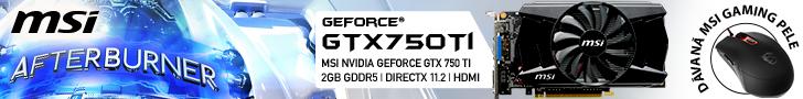 Pērc GeForce GTX 750 Ti un dāvanā saņem datorpeli!
